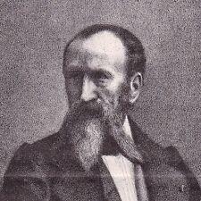Portrait XIXe Horace Vernet Lithographie Peintre Peinture Orientalisme 1862