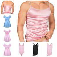 Sissy Men Lingerie Nightwear Underwear Satin Crossdress Lingerie Sleepwear Party