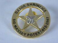 Bahia Shriners Star Badge Pin 2007 Sid Massey Potentate