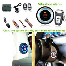 Car SUV With Vibration Alarm System Ignition Engine Start Push Button Remote Kit
