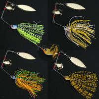 Buzzbait Fishing Lure Spinning Bait Jigs Leadhead Crankbait Tackle Hooks #2 ~