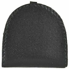 REAL LEATHER SEMI ROUND MONEY TRAY PURSE IN BLACK, DARK BROWN OR MID BROWN