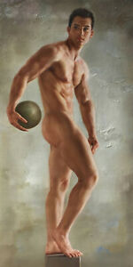 "24""x48"" Art prints canvas transfer from oil painting male nude 200 photos listed"