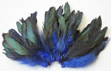 "20g (0.7oz) 4-6"" half bronze royal blue schlappen coque rooster feathers ~200pcs"