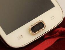 Bouton décoratif adhésif strass pour Bouton central Samsung-  Carré noir