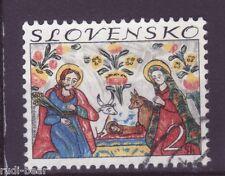 Slowakei Nr.  207  gest.  Weihnachten Heilige Familie Glasmalerei   -1