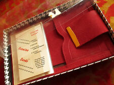NEW DS True Vtg 70s Mens BURGUNDY Suede leather Bifold ID SNAP Wallet IN BOX!