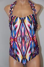 NWT BECCA  Swimsuit Bikini Tankini 2 pc set Plus Size 1X(16-18) Hipster Multi