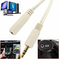 1m 2m 3m 10m 3.5mm Jack Extension Cable Stereo Plug to Socket AUX Headphone Lot
