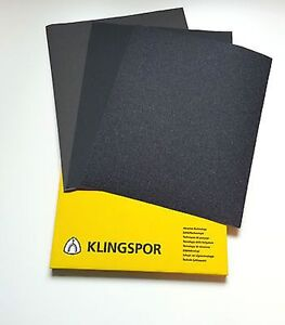 WET AND DRY SANDPAPER 60 - 2500 GRIT KLINGSPOR MIX PS8C PS8A  MIXED YOU CHOOSE