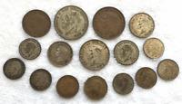 Lot 16 Georgivs V Dei Gra VI D Britt Canada Shilling Crown Coins 1921 -1951