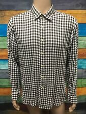 (Used) Mens GloWeave Long Sleeve Button Front Shirt Size: XL (Urban Fit) Checks