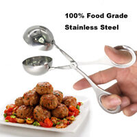Stainless Steel Convenient Stuffed Meatball Clip DIY Fish Meat Rice Ball Maker