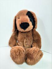 "Farm Floppies Dog 1984 North American Bear Co 16"" Plush Puppy Brown Black Spots"