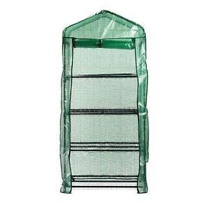 REPLACEMENT MINI GARDEN GREENHOUSE COVER SPARE PROTECTIVE GREEN PLASTIC 4 TIER