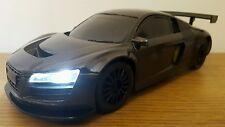 AUDI R8 QUATTRO SPORT RADIO REMOTE CONTROL CAR  1:16 - FAST SPEED METTALIC BLACK
