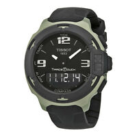 Tissot T-Race Touch Black Dial Black Rubber Mens Watch T0814209705701