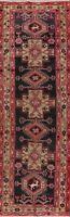 Vintage Geometric Animal Design Runner Rug Wool Hand-Knotted Hallway Carpet 3x10