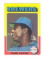 1975 TOPPS MINI BASEBALL HANK AARON CARD #660 EXMT-NM+ SHARP! NO CREASES (494)