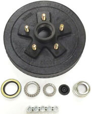 "10"" X 2-1/4"" Trailer Brake Drum Kit w/ Bearing Seal Nuts for Dexter 3500Lbs Axle"