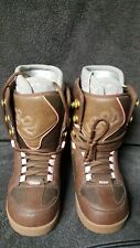 Womens Thirtytwo Snow Boarding Boots Prion W's Size 8 Brown & Pink