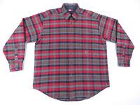 NWOT Vintage 90s Tommy Hilfiger Multi Color Plaid Crest Mens Long Sleeve Shirt L