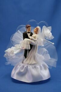 Over the Threshold of Love- Wedding Cake Topper 560 HANDCRAFTED IN THE USA
