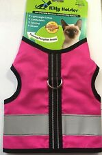 Kitty Holster Cat Reflective Safety Harness Flamingo Pink - Size XS