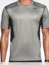 Nike Pro Combat Hypercool 2.0 Fitted Men's Shirt Sz XL Gray 449841 091 NEW