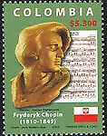 Colombia 1390 2006 Personalidades musicales. Frederic Chopin. Compositor MNH