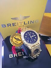 $40k Breitling 18k Chronomat Chronograph With UTC GMT Box & Papers ~ AD Serviced