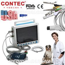 USA Seller, VET Veterinary Patient Monitor 6 Parameters Vital Signs Monitor,FDA