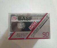 BASF CHROME STANDARD II 90 Pack of 5 BLANK CASSETTE TAPES (NEW)