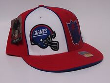 NEW YORK GIANTS Fitted GRIDIRON CLASSIC Flat Bill NFL Cap/Hat -RED/WHITE