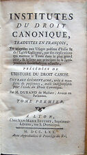 1770 LANCELLOTTI, INSTITUTES DU DROIT CANONIQUE, DIRITTO CANONICO GIURISPRUDENZA