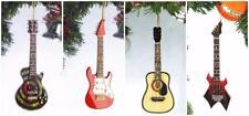 Miniature Replica Musical Instrument Guitar Lot 4 Les Paul Flame Electric Wood