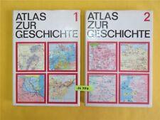 ATLAS ZUR GESCHICHTE Band 1 & 2 DDR VEB Herrmann Haack Gotha Leipzig 1. Auflage