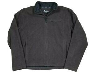 Jos. A Bank Men's Leadbetter Golf Brown Zip Up Fleece Jacket Size XL