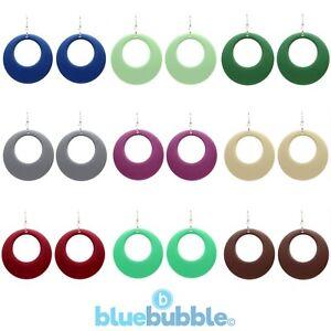 Bluebubble SWINGING 60s Large Round Hoop Drop Earrings 70s 80s Boho Chic Wedding