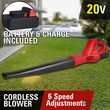 Electric 20V Cordless Lithium Leaf Blower Kit Battery Charger Clean Garden Tool