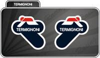 2 Adesivo Stickers TERMIGNONI resistente al calore 6 cm DX e SX