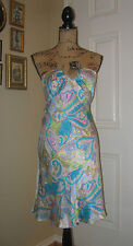 MORRELL MAXIE Silk Paisley Halter Dress ~ SZ 2 ~ Fitted and Sexy!
