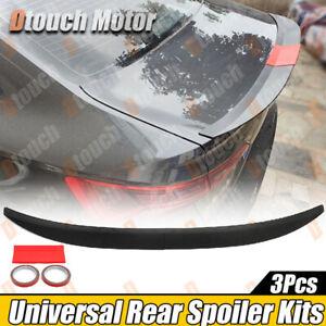 Universal Fitment Sedan Coupe Rear Boot Spoiler Unpainted Ducktail HighKick Wing