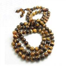 Delicate Tibetan 108 6mm Tiger Eye Yoga Meditation Prayer Beads Mala Necklace