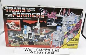 Metroplex NICE FIGURE W Box 100% Complete 1985 Vintage G1 Transformers