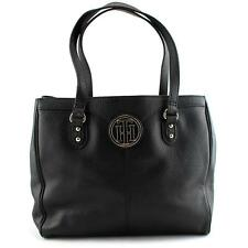 Tommy Hilfiger Maggie Pebble East West Tote Women Black Tote
