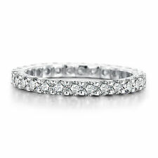 Round Cut 1.2ct AAA Graded Cubic Zirconia Silver 925 Jewelry Wedding Band Ring