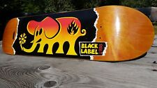 Black Label 25TH ANNIVERSARY skateboard deck LUCERO skate collector art