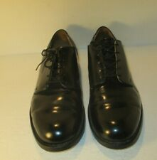 Craddock-Terry Vintage 1982 Black Leather Military Lace Up Dress Shoes-Sz-11R