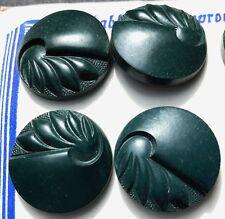 2.2cm Verde Azulado Inglés DÉCADA DE 1940 Catalin MUY DECORACIÓN BOTONES - 12OF